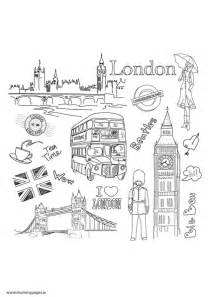 Travel Doodles London Colouring Page To Download It Just Click The  sketch template