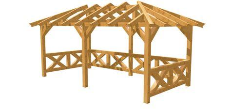 Pavillon Walmdach by Walmdach Pavillon Selber Bauen Holz Bauplan De