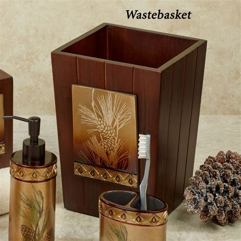 pinecone bathroom accessories pine cone silhouettes bath accessories