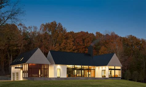modern house in country contemporary take on the warm country home