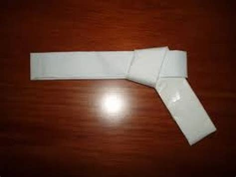How To Make A Paper Gun Easy - how to make a rubber band gun out of paper easy
