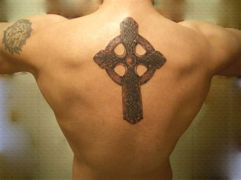 celtic cross tattoos on back cross tattoos page 51