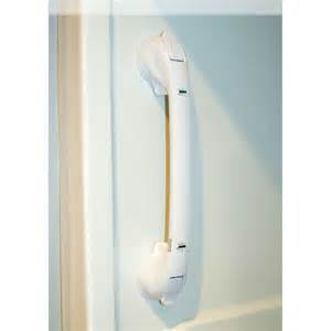 silver removable shower grab bar