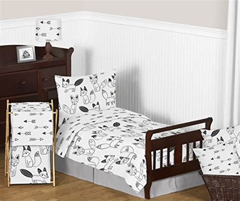 Black And White Crib Bedding Set Arrow Print Fitted Crib Sheet For Black And White Fox Collection Baby Toddler Bedding Set