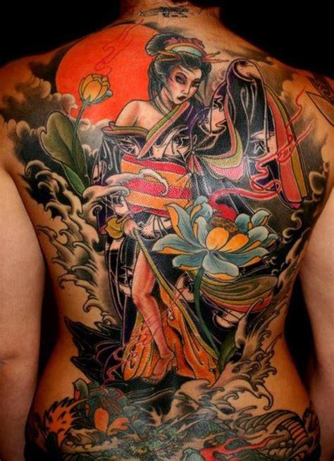 geisha tattoo back piece tattoo sexy full body girls tattoo asian arts