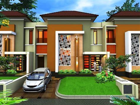 desain cat eksterior rumah contoh kombinasi warna cat yang sesuai untuk eksterior
