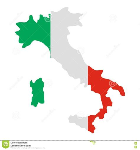 italy map vector italy map icon flat style stock vector illustration of