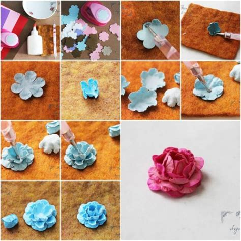 Steps To Make Flowers With Paper - how to make flowers made of paper step by step diy