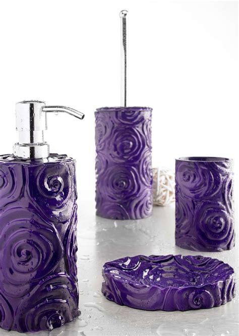 Set Viola set accessori baccarat viola