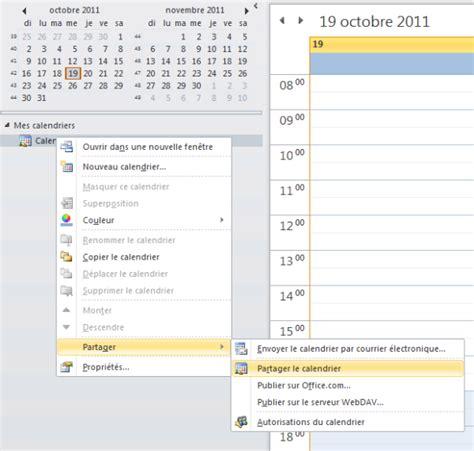 Calendrier Partage Guide Partager Un Calendrier Outlook Openhost