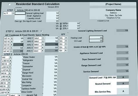 Commercial Electrical Load Calculation Spreadsheet by Residential Load Calculations Eep