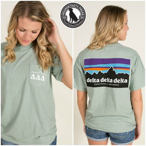 comfort colors bay of arkansas tri delta mountain t shirt comfort