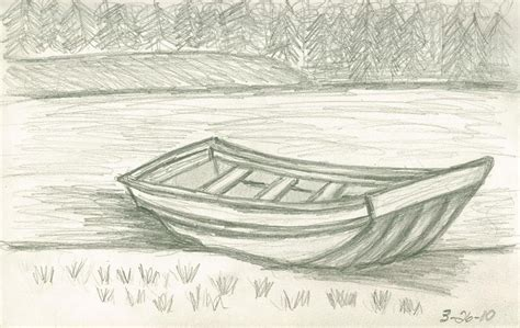 how to draw a beached boat simple boat pencil drawing www imgkid the image