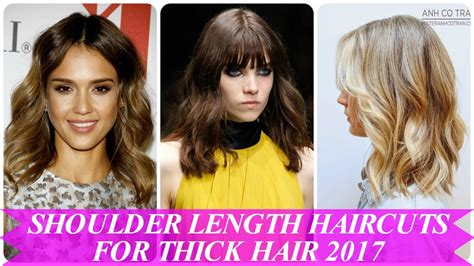 hairstyles for thick hair on youtube beautiful shoulder length haircuts for thick hair 2017