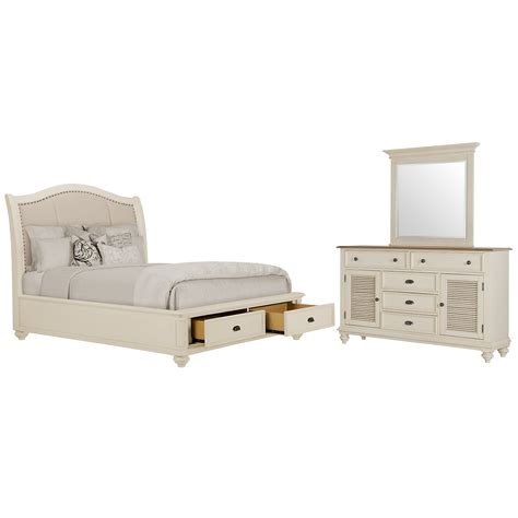 White Bedroom Set With Storage by City Furniture Coventry White Upholstered Platform