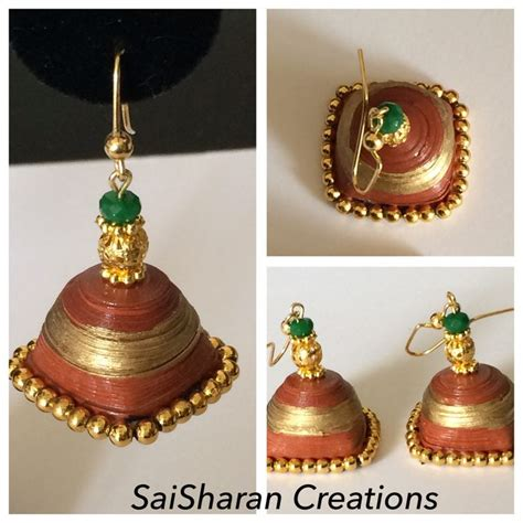 How To Make Paper Quilling Jhumkas - paper quilling jhumkas paper quilling jhumkas jewelry