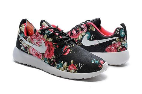 2015 nike roshe run shoes print floral collection black