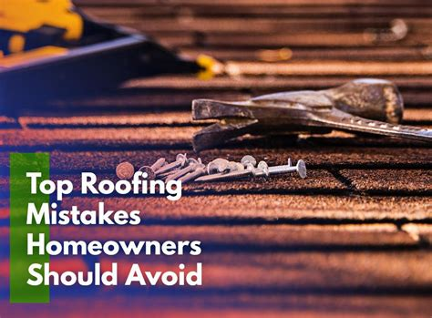 5 Common Roofing Mistakes And Top Roofing Mistakes Homeowners Should Avoid