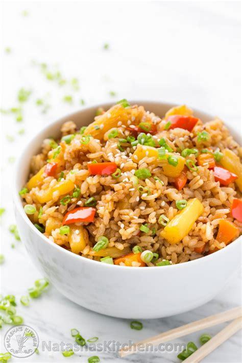 pineapple fried rice recipe dishmaps