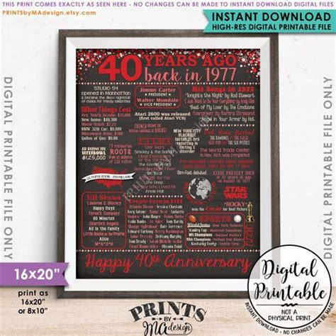 Wedding Anniversary Gift Usa by 1000 Ideas About 40th Anniversary Gifts On