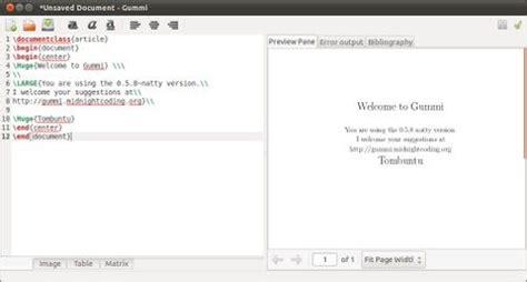 imagenes y texto latex gummi un editor latex sencillo