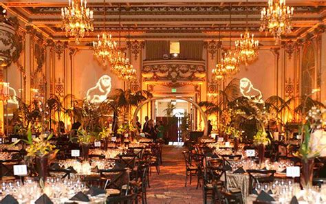 Warm gold lighting in Fairmont Hotel Gold Room Theme Merry & Bright BCG Holiday Party