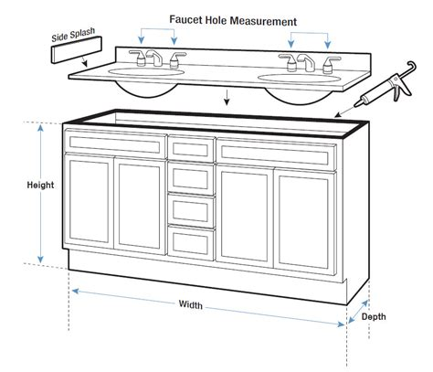 Bathroom Cabinet Measurements by Vanity Tops Buying Guide Hayneedle