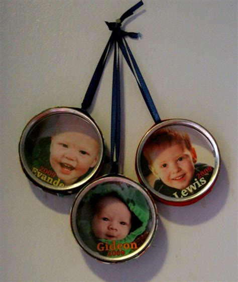 Handmade Photo Ornaments - favorite handmade ornaments 187 dollar store crafts