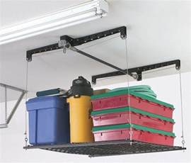 drop storage in ceiling designing for an organized garage part 1 using the