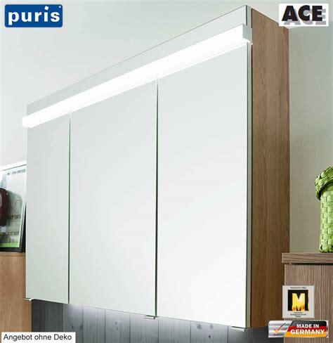 spiegelschrank puris puris ace spiegelschrank 100 cm mit led beleuchtung