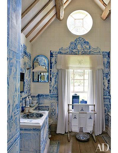 rooms  showcase blue  white decor
