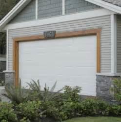 stain wood trim around garage door house exterior ideas