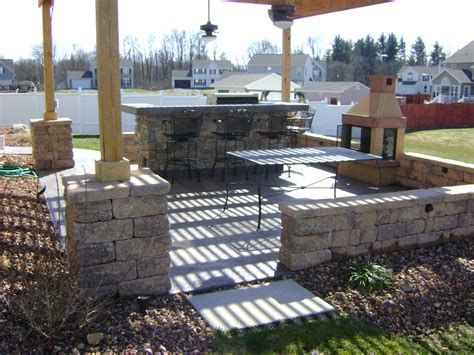 outdoor patio outdoor living patio with raised fire pit nucrete