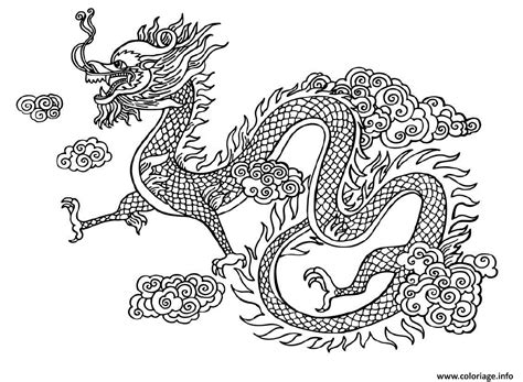 chinese dragon coloring pages easy coloriage dragon chinois chine dessin
