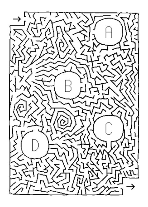 printable maze with multiple exits think labyrinth the spiralstorm gallery