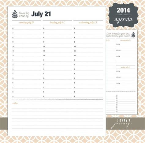 printable hourly planner 2014 2014 hourly and daily planner agenda calendar with to