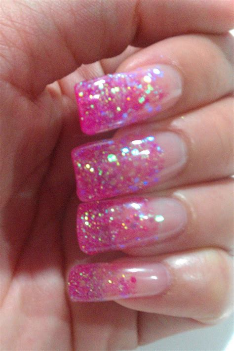 Glitter Nail by The Clover Inn Notd Pink Glitter Gel Nails