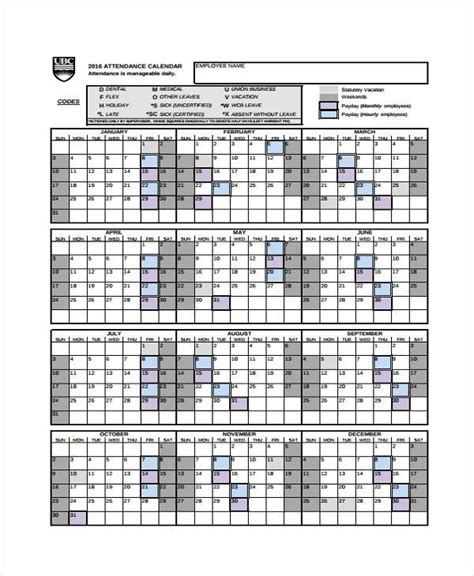 Free Printable Employee Attendance Calendar 2018 Pertamini Co Complyright 2018 Attendance Calendar Cards 8 12 X 11 White Pack Of 25 By Office Depot Officemax