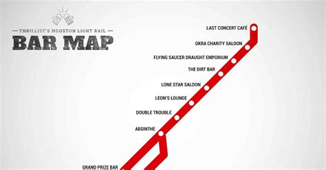 houston map bars houston light rail bar map bars at every stop thrillist