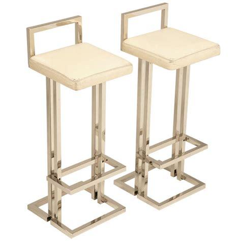 leather and chrome bar stools circa 1970 romeo rega chrome and leather bar stools at 1stdibs