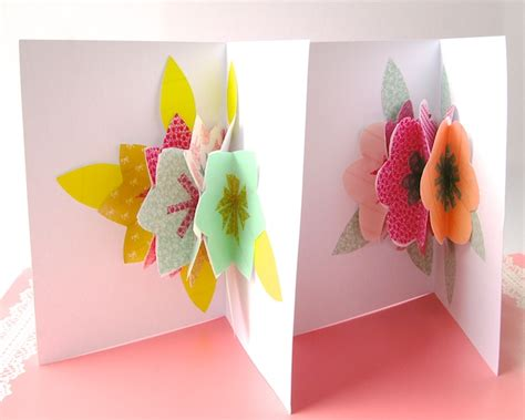 flower bouquet pop up card template omiyage blogs diy pop up bouquet card