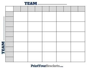 printable 25 square football grid template
