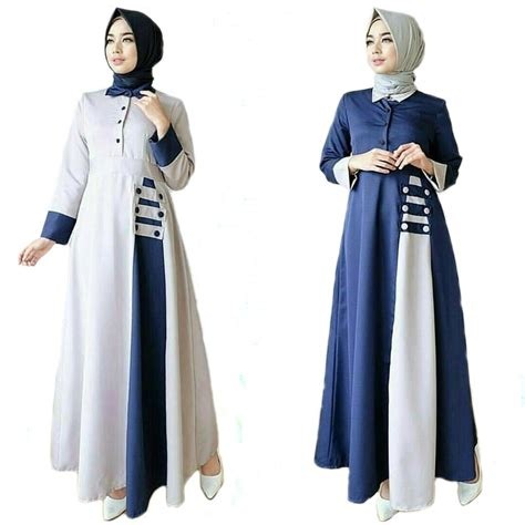 Dress Jumbo Cantik baju wanita bigsize trendy kemeja jumbo big size salur