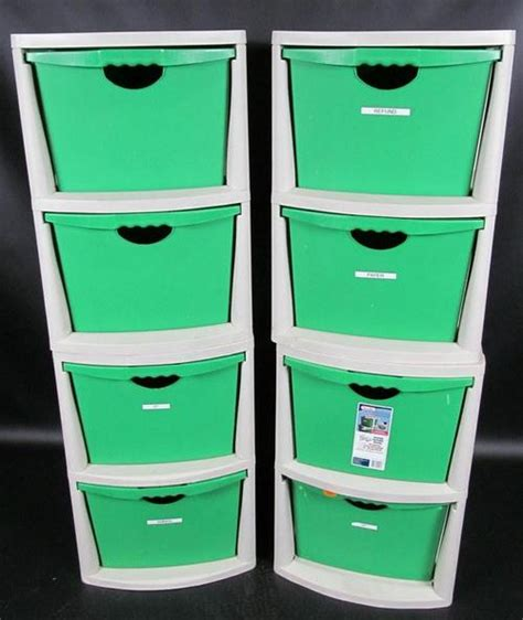 Sterilite 4 Drawer Storage Unit by Lot 4 Sterilite 2 Drawer Storage Drawers Recycling