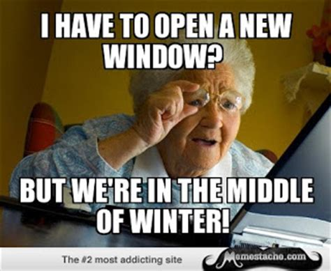Granny Meme - past and future hodgepodge preppy empty nester f