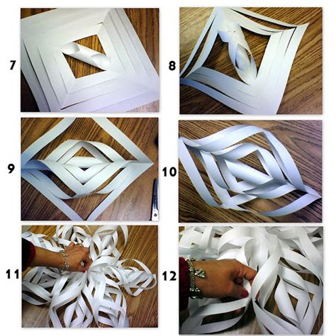 How To Make A Big Paper Snowflake - patties classroom paper snowflakes