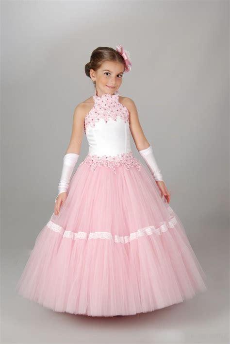 Dress Kid An lovely halter lace flower dresses for weddings