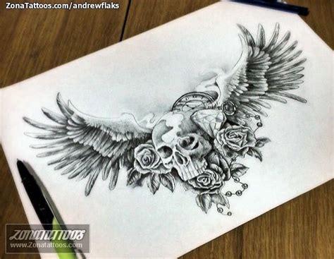 imagenes de calaveras con alas las 25 mejores ideas sobre tatuajes de rosa de calavera en