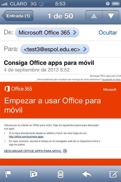 Office 365 Mail On Iphone 7 Configuraci 243 N De Correo En Iphone Office 365 En Espol