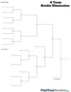 8 team bracket template 8 team elimination printable tournament bracket